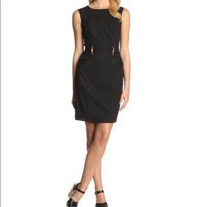 Ellen Tracy Black Eyelet Belted Sheath Dress 4